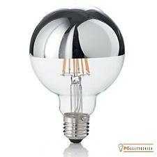 DAYLIGHT LAMPADINA E27 FILAMENTI LED 7W GLOBO G125 CON CALOTTA CROMATA DIMMERABI