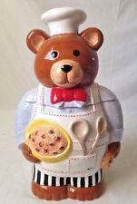Neiman Marcus Chef Teddy Bear Cookie Jar 1996 Store Exclusive