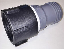 "275 330 Gn IBC Tote Tank DRAIN ADAPTER 2"" COARSE Thr'd x 2"" HOSE BARB Water Pipe"