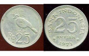 INDONESIA  INDONESIE  25 rupiah  1971  ( etat )