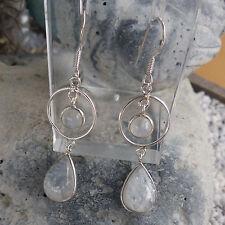 Schöne Ohrhänger mit Mondstein -925 Silber