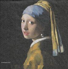 Lot de 2 Serviettes en papier La Jeune Fille à la perle Johannes Vermeer