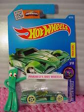 Case D 2016 i Hot Wheels FORMUL8R #48☆Green/Turquoise; oh5 glow☆HW GLOW WHEELS