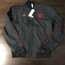 Manchester United Zip Up Wind Breaker Black Size Large