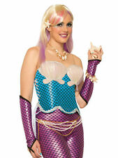 #mermaid corsé con Shell Bra Top Azul Mujer Adulta de un tamaño Fancy Dress