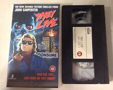 They Live VHS Video Science Fiction Thriller - John Carpenter 1995 Cert18 Film