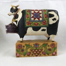 Jim Shore Cow Quilt Grand Tradition Heartwood Creek 117143 Enesco 2003