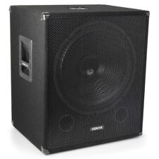 "Vonyx 18"" Powered Active Subwoofer Bass Boost Bin DJ Disco PA Sub Speaker 1000W"