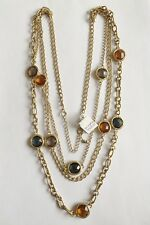 "LIA SOPHIA GOLD TONE 32""-35"" SEQUENCE 3 STRANDS NECKLACE"