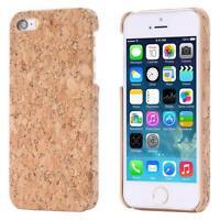Apple iPhone SE 5 5S CORCHO FUNDA MADERA NATURAL HARD CASE CASO COVER CAJA