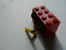 Lego 1 treuil rouge equipe set 7208 4430 60002 7239 / 1 red string reel complete