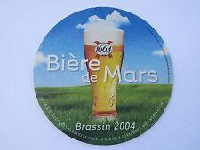 Beer Bar COASTER ~ KRONENBOURG Brewery 1664 Biere de Mars ~ FRANCE Brassin 2004
