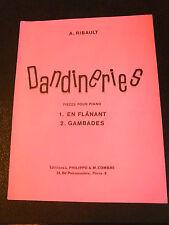 Partition Dandinerie pièces pour piano Ribault En flânant Gambades Music Sheet