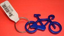 "NEW Aluminium 2"" Long BLUE BIKE Bicycle Key chain bottle opener with KEY RING"