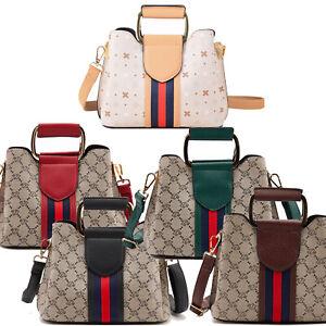 Women Small Contrast Stripes Handbag Crossbody Shoulder Bag Top Handle Purse US