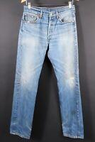 VTG LEVI'S 501 Button Fly Distressed Hige Denim Jeans Size 32x36 (30x32)