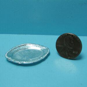 Dollhouse Miniature Metal Silver Serving Tray Platter A3070