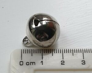 18mm Diameter LARGE Jingle Bell Charm Craft Bell Christmas Cat Dog Collar SILVER