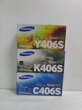 GENUINE SAMSUNG CLT-K406S CLT-C406S CLT-Y406S NEW SEALED SEE PHOTOS SHIPS FREE!