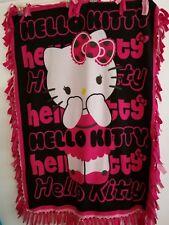 Hello Kitty Double Fleece Tied Comforter Blanket Throw Handmade