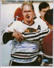 Bobby Hull Autograph Signed 8x10 Photo HOF 1983 Inscription Chicago Blackhawks