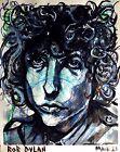 Drawing of Bob Dylan by artist Mark Robinson