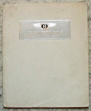 BENTLEY MK VI Sports Car Sales Brochure Oct 1952 HOOPER Park Ward MULLINER