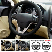 38cm 15'' Universal Soft Car Steering Wheel Cover Silicone Auto Leather DIY