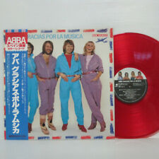 ABBA - GRACIAS POR LA MUSICA LP 1980 JAPAN PRESS RED COLOR VINYL POP w/ obi
