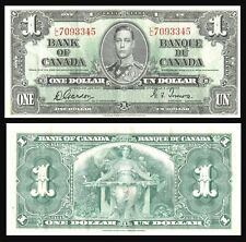 CANADA $1 DOLLAR 1937 King GEORGE VI / **Gordon & Towers** P 58d