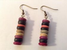 African-Arena Handmade Clay Mix Colors Beads Dangle Fashion Earrings Aa-14