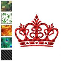 Royalty Crown Monarch King Decal Sticker Choose Pattern + Size #3072