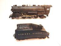 Vintage Lionel #1666 Die Cast Steam Engine 2-6-2 wth Slope Back Lionel Linestndr