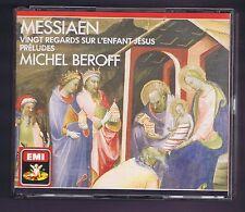 MESSIAEN BOX SET 2 CDS 20 REGARDS SUR L'ENFANT JESUS/ PRELUDES/  MICHEL BEROFF