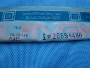 20694480 Pontiac Bonneville Emblem Pate Door Front 1987 - 1991