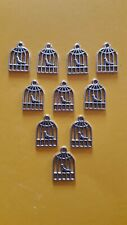10x Tibetan Silver Bird Cage Charms Jewellery Making Bracelets Necklaces.