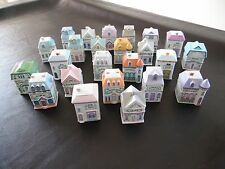 Vintage Lenox Spice Village Set of 24 Spice Jars Victorian Houses Displayed Only