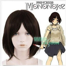 LMRA711  short dark brown straight mononoke princess hair wigs for women wig