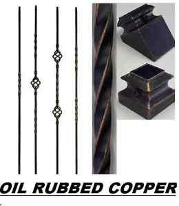 Oil Rubbed Copper Wrought Iron Balusters