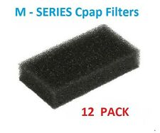 Respironics REMstar M - Series CPAP BIPAP SleepEasy Black Foam Filters - 12 Pack