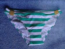New eda London Size XS 8 Portofino Bikini Briefs White & Green