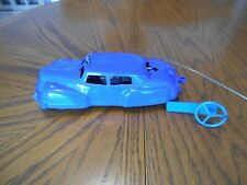 Vintage 1930's thru 1950's Blue Battery Operated Remote Control Car, Used