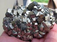 PYRITE BRILLIANT PENTADODECAHEDRAL CRYSTALS from PERU.....BEAUTIFUL PYRITE PIECE