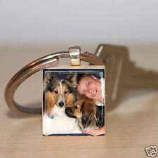 Custom Photo Image Scrabble  Charm Personalized - Keepsake Keychain Customized