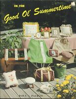 Good Ol' Summertime Counted Cross Stitch Pattern Booklet 1980 Backgammon Board