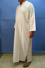 WHITE Thin Man Daffah THOBE Thoub Galabiya Jellabiya Jellaba Caftan L / XL #112