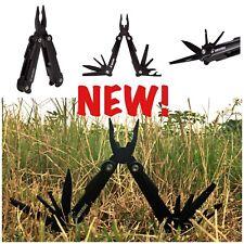 New 12 Survivors Locking 10-In-1 Pliers Multi-Tool w/ Molle & Belt Sheath Black