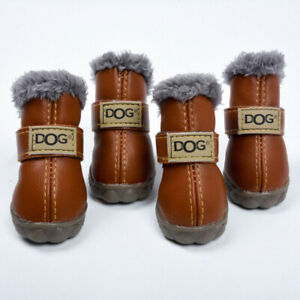 Pet Snow Boots S  M  L  XL Autumn  Winter  Warm Non-slip Waterproof Pet Shoes