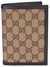 NEW Gucci Men's 346079 Beige Canvas GG Guccissima Passport Holder Bifold Wallet