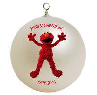 Personalized Sesame Street Elmo Christmas Ornament